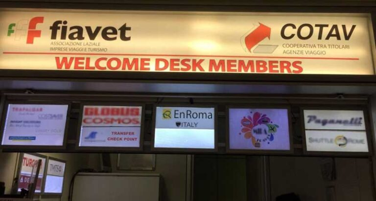 mostrador en roma transfers aeropuerto fiumicino